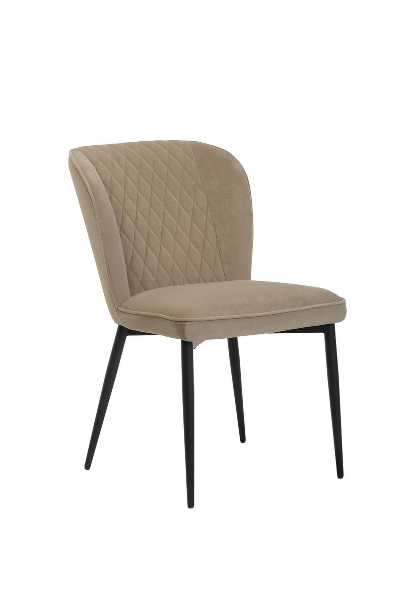 Стілець M-44 капучіно м'яке крісло модерн метал