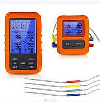 Термометр с выносным щупом 4 канальный  для приготовления пищи TS-TP40