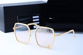 Женские солнцезащитные квадратные очки 5884 беж