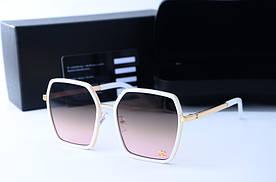 Женские солнцезащитные квадратные очки 5884 белые