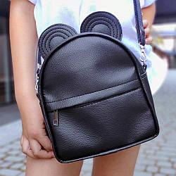 Рюкзак-сумка с ушками мыши, черный (RKU_010_BL)