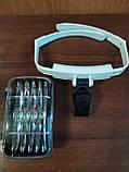 Бинокулярная лупа (Очки) с LED подсветкой TH-9201, фото 4