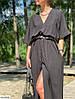Летнее оверсайз платье с вырезом, фото 2