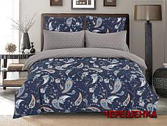 Семейный набор хлопкового постельного белья из Сатина №112AB Черешенка™
