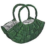 Корзина декоративная 23 х 30 см  зеленая