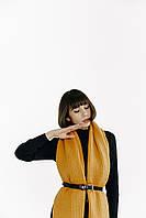 Объемный вязаный шарф Zara горчичного цвета