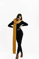 Объемный вязаный шарф Reserved горчичного цвета