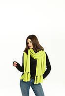 Объемный вязаный шарф Кира кислотного цвета