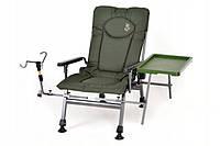 Кресло рыбацкое со  столиком и держателем удочки карповое Elektrostatyk F5R ST/P NN model 2020