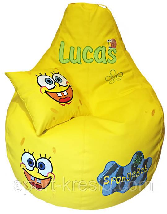 Детское бескаркасное Кресло мешок Губка Боб