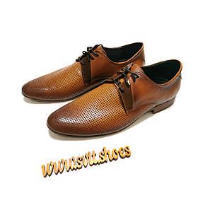 Туфлі чоловічі літо miratti шкіра коричневі