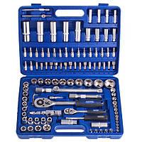 """Werker. Универсальный набор инструмента 1/4"""" & 1/2"""", 108 предм. (6 гран.) (UN-1108П-6)"""
