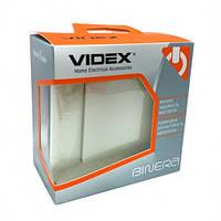 Выключатель кремовый 1кл VIDEX BINERA