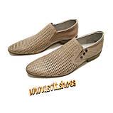 Туфли мужские лето Solo Man кожа коричневые, фото 3