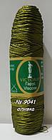 Нитки пряжа для вязания с вискозой ГАРУС VICTORIA Виктория № 9041 - зеленый