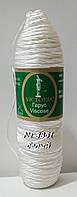 Нитки пряжа для вязания с вискозой ГАРУС VICTORIA Виктория № 3851 - белый