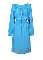 Платье-Татьянка ХРИЗАНТЕМЫ,поливискоза,размеры 46-64.