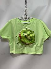Детский топ для девочки на лето киви р. 6-12 лет мята