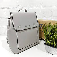 Рюкзак жіночий, сірий, шкірзам Арт.HS320 Eteral Smile (Китай) (Большой женский серый городской рюкзак-сумка из кожзаменителя)