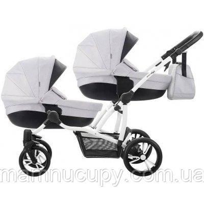 Детская универсальная коляска 2 в 1 для двойни Bebetto B 42 Premium New 03 Серый
