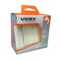 Выключатель 1кл с подсветкой  Кремовый  VIDEX BINERA