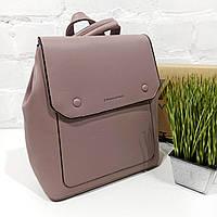 Рюкзак жіночий, фрез, шкірзам Арт.HS320 Eteral Smile (Китай) (Большой женский т.розовый городской рюкзак-сумка из кожзаменителя)
