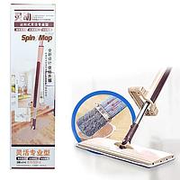 Швабра лентяйка для пола с отжимом для быстрой уборки Spin Mop 360, супер швабра (спин моп) с отжимом