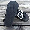 Super Girl черные Шлепки резиновые тапочки тапки женские пляжные шльопанці гумові тапочки чорні, фото 2