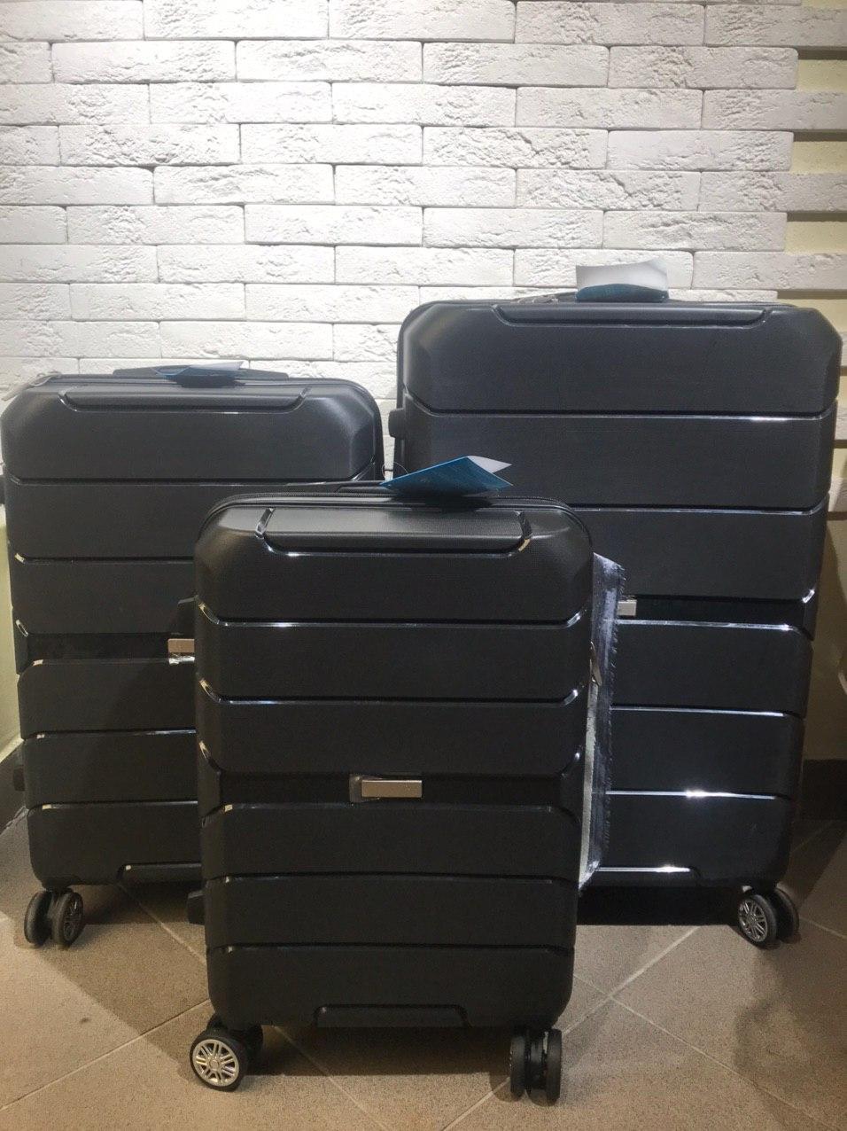 Дорожные чемоданы оптом  Комплект 3 шт. Дорожные сумки и чемоданы из полипропилена опт