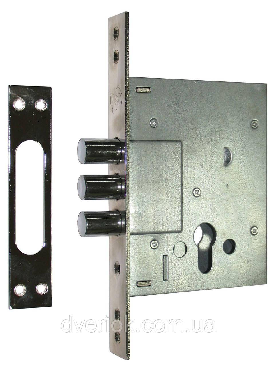 Замок для металлических дверей USK 257R Никель