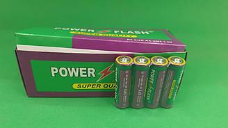 Элемент питания Батарейка POWER FLASH (АА R6) солевые (Б-4) (4 шт)
