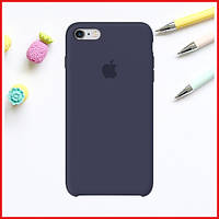 Тёмно-синий силиконовый чехол на iPhone 7/8