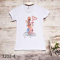 Белая женская футболка с принтом Akkaya 3202-4