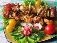 Рецепт мяса с грибами на шашлычнице (на мангале)