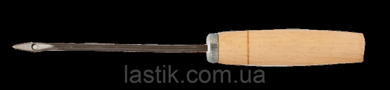 Шило банковское, деревянная ручка, длина иглы 12,5 см Артикул: