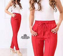 """Стильные женские брюки с высокой посадкой """"Indigo"""" Батал"""