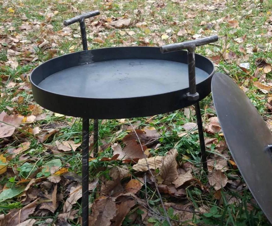 Сковорода 30 см маленька похідна з кришкою