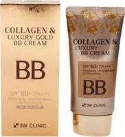 ББ крем антивозрастной с коллагеном и золотом, 3W Clinic Collagen Luxury Gold BB Cream SPF50+ PA+++, 50 мл