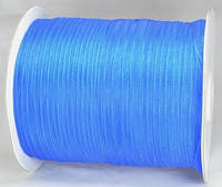 Лента из органзы синяя 7мм ЛШ06-1