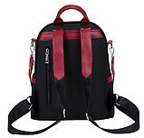 Рюкзак-сумка женский черный с красным, фото 3