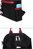 Рюкзак-сумка женский черный с красным, фото 4