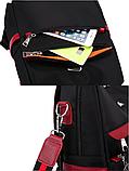 Рюкзак-сумка женский черный с красным, фото 5