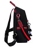 Рюкзак-сумка женский черный с красным, фото 2