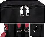 Рюкзак-сумка женский черный с красным, фото 6