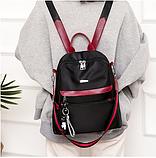 Рюкзак-сумка женский черный с красным, фото 7
