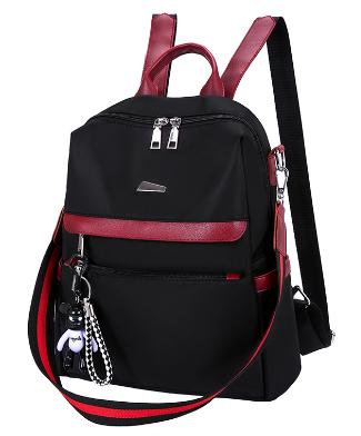 Рюкзак-сумка женский черный с красным