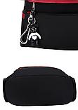 Рюкзак-сумка женский черный с красным, фото 8