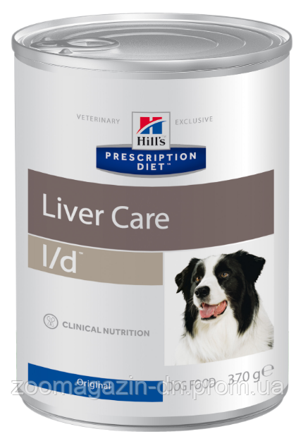 Hills Prescription Diet  Canine l/d  для поддержания здоровья собак с заболеваниями печени,  370г