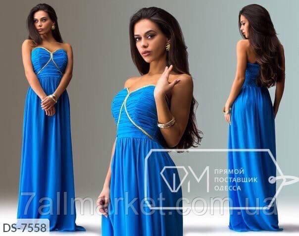 """Платье женское шифоновое мод: 801 (L, M, S) """"SLAVIA"""" недорого от прямого поставщика"""
