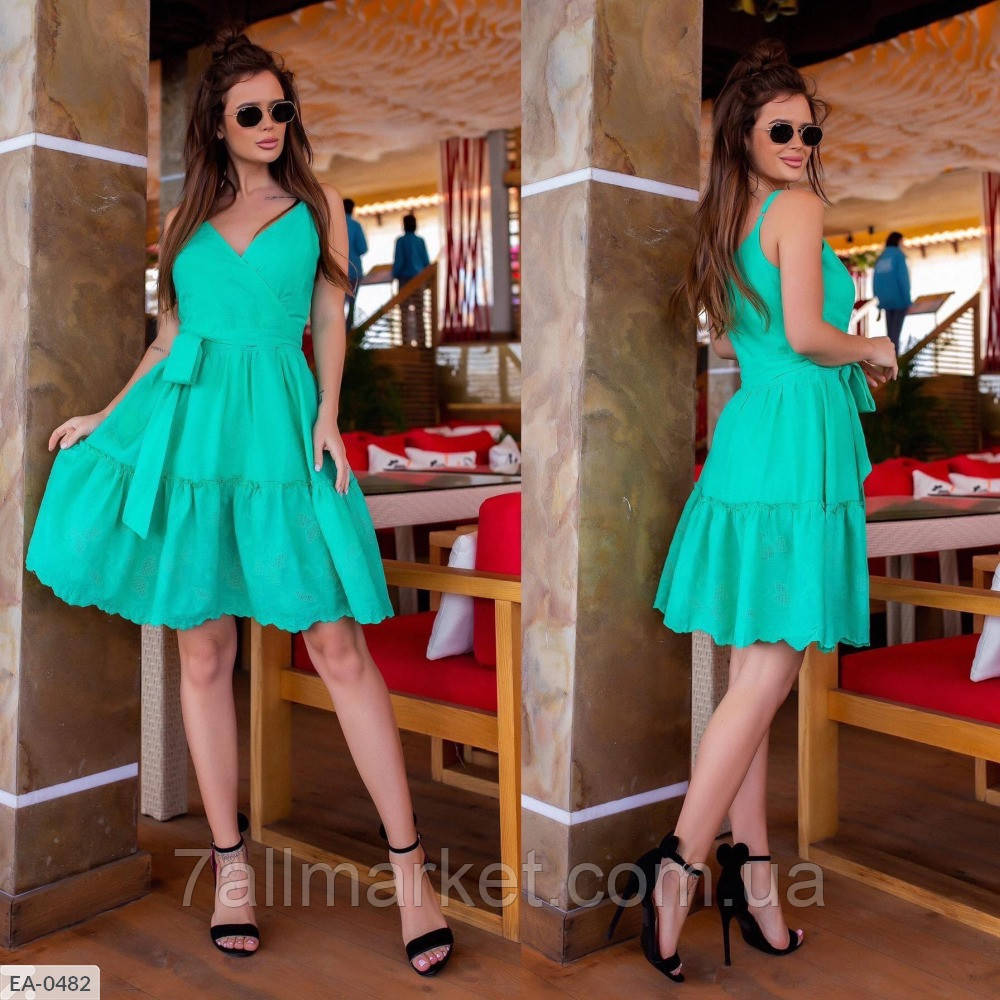 """Платье женское с пояском модель 742 (L, M, S, XL) """"SLAVIA"""" недорого от прямого поставщика"""